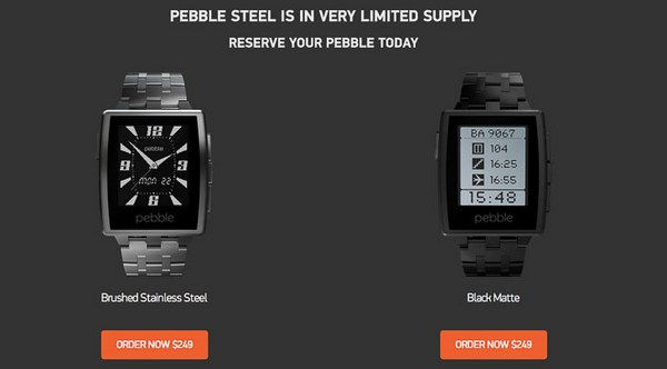 Pebble Steel Smart Watch4